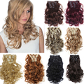 1Set Clip On Hair Extension 20inch 8pcs/set Natural Hairpieces Hair Style Wavy Curly Synthetic Clip In Hair Extensions