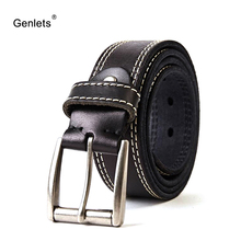 crazy horse cowhide leather belt genuine for men brown color pin buckle jeans strap vintage cinto