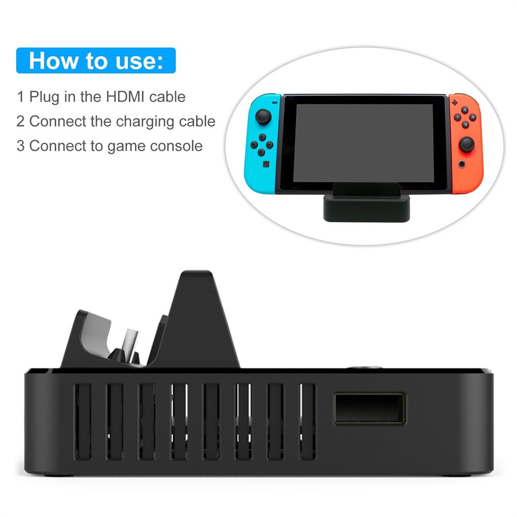 Image 2 - Charging Dock Station For Nintend Switch HDMI Video Converter Base Switch Portable TV Base Converter For Charging Playing Gamer-in Replacement Parts & Accessories from Consumer Electronics