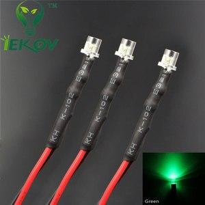 Image 3 - 20pcs LED 3mm LED DIODE 12V Pre Wired 12v DC Flat top Emitting Diodes Wide Angle 20CM DIY