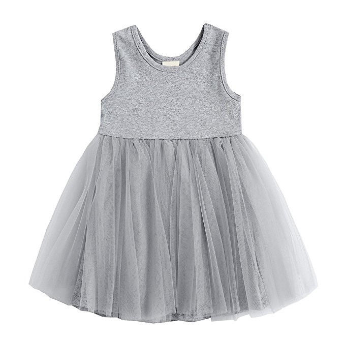 Toddler Kids Baby Girls Dress Princess Party Pageant Wedding Sleeveless Lace Tulle Tutu Flower Dresses the rapture