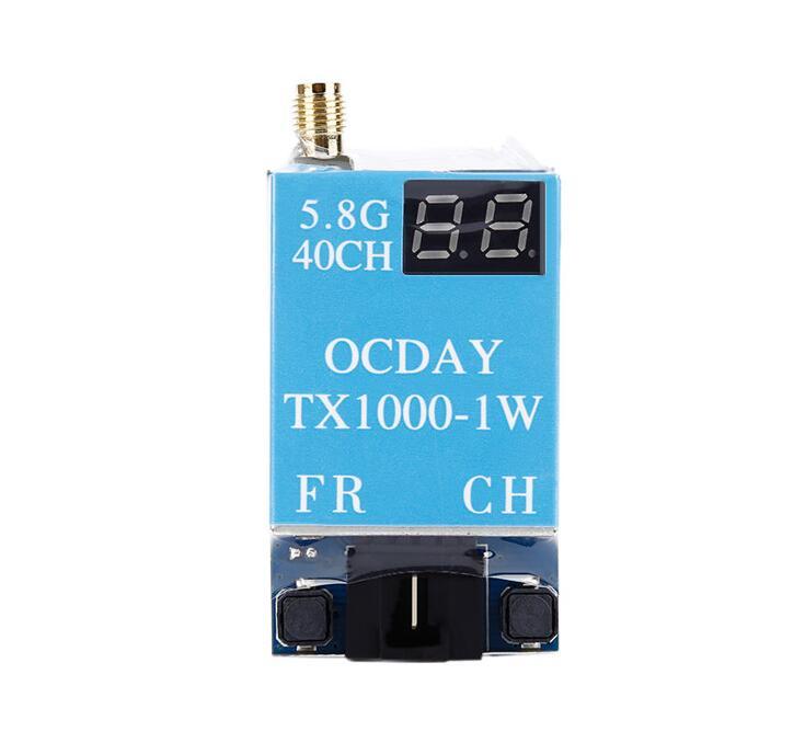 ФОТО Free Shipping OCDAY 5.8G 40CH TX1000 FPV AV Transmitter Transmission TX for RC Drone Kvadrokopter