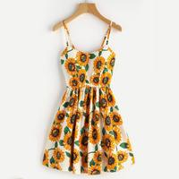 KANCOOLD women dress Women's Fashion Summer Print Sleeveless Dress Ladies Floral Print Mini Dress MAYIM9