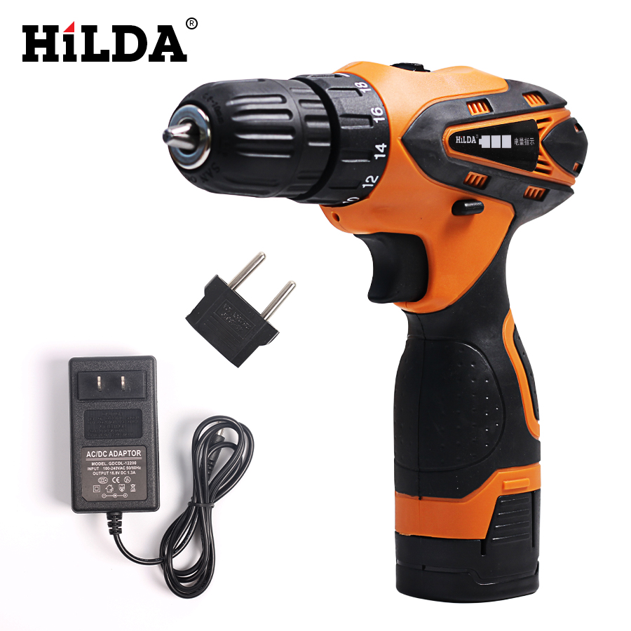 HILDA 16.8 V cacciavite Elettrico Batteria Al Litio Trapano Elettrico Furadeira Cordless Cacciavite Power Tools
