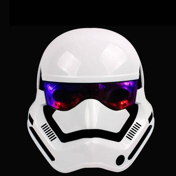 2016 Hot Ultimate gwiezdne wojny darth vader maska imperium klon biały żołnierze świecąca maska pełna twarz Halloween i boże narodzenie maska tanie i dobre opinie Kostiumy Dla dorosłych NoEnName_Null Unisex Maski Z tworzywa sztucznego Superhero Sci-Fi Costumes Christmas Party Gift