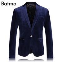 2017 High Quality Velvet Famous Brand Casual Blue Blazer Men Business Blazer Jacket Plus Size S