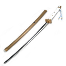 Handmade Japanese katana cosplay real Samurai sword carbon steel Blade golden hardwood Scabbard home decor anime swords