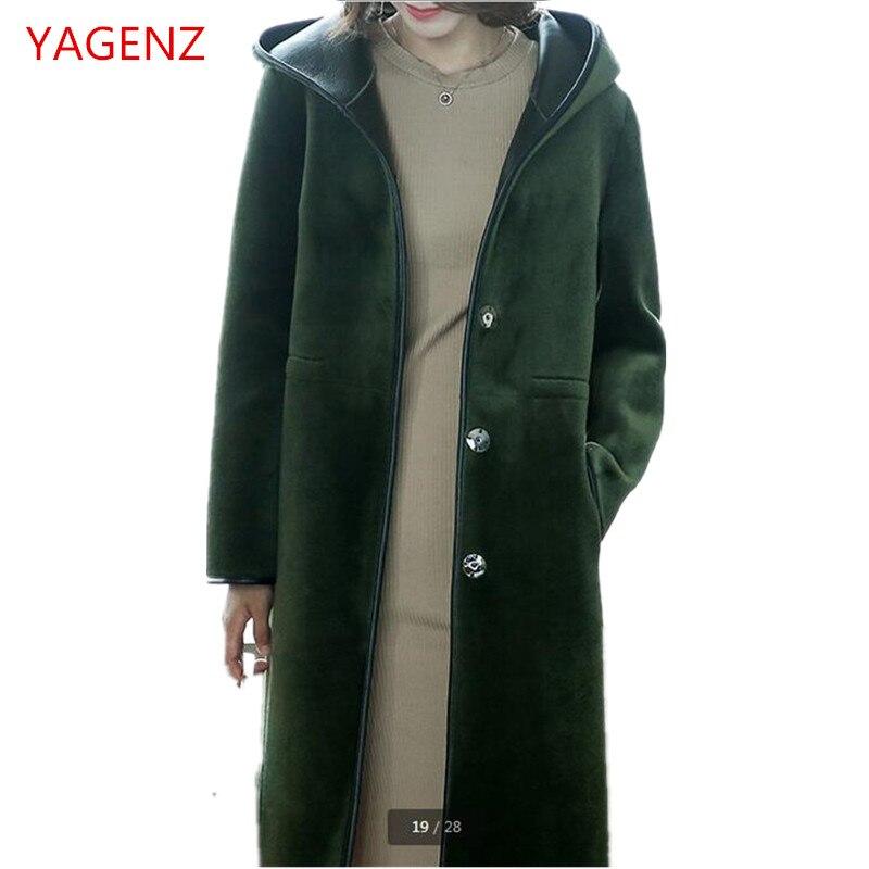 taille 40 65256 44341 € 167.75 50% de réduction|Top qualité femmes manteau de fourrure PU en cuir  veste à capuche Imitation agneaux laine manteau nouvelle mode garder au ...