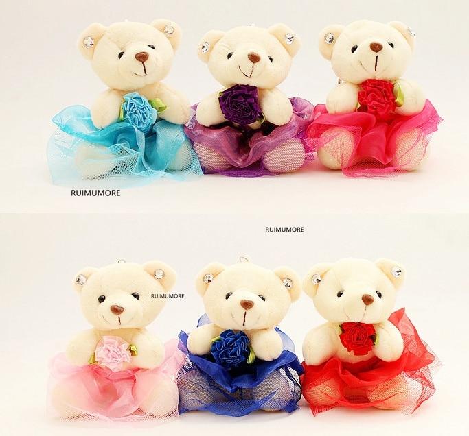 Bear Key chain Plush Toy , HOT Wedding Gift Bear Stuffed Plush Toys, 2Colors - 17CM Stuffed Animal Plush TOY