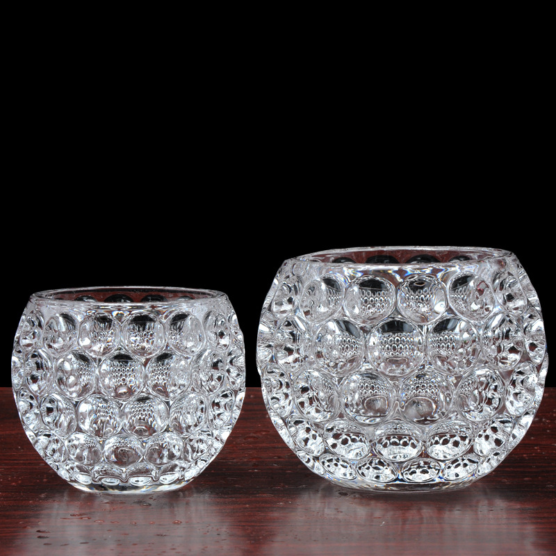 Us House Fashion House Creative Home Dot Ball Clear Crystal Vase