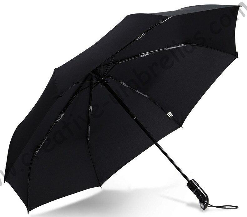 104cm 2-3 persons 75T pure aluminium three fold auto open&auto close anti-thunder windproof business umbrella superlight parasol