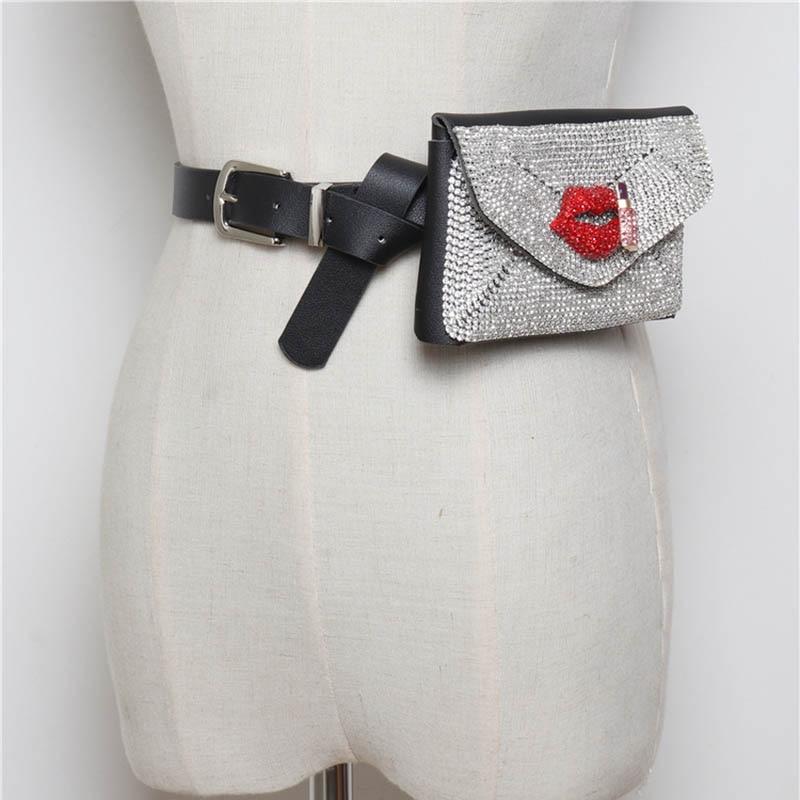 ZDARLBO Mode Sauvage sac banane Flash Forage Décoratif Amovible Taille Sac téléphone portable ceinture de sac Femelle Designer Marque sacs banane
