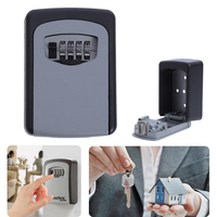 High Security Wall Mounted 4 Digit Wall Mounted Combination Password Keys Hook Outdoor Safe Key Box