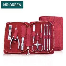 MR. GRÜN 9 IN Nagel cutter Professionelle edelstahl schere pflege kit kunst Häutchen Utility werkzeuge nagel clipper manicur set