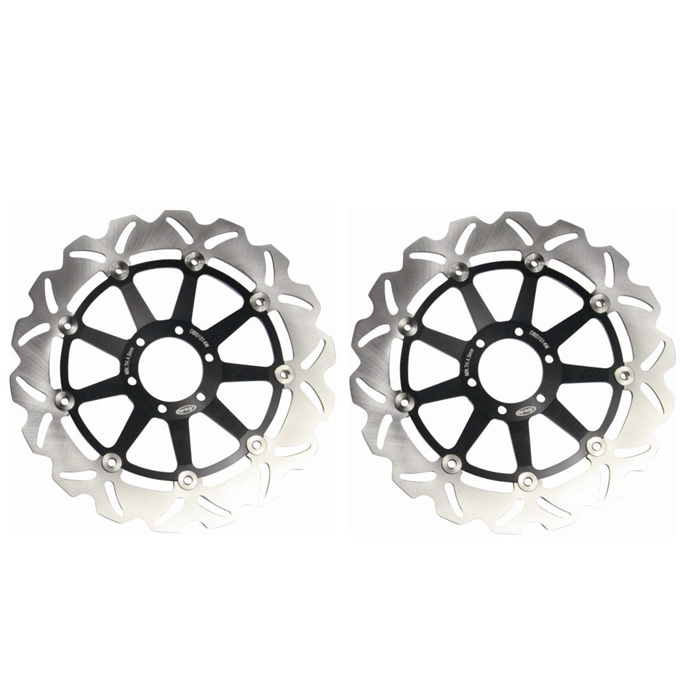 Pair Steel Front Brake Rotors Disc Braking Disks for MOTO GUZZI NORGE T-GTL 850 2007 BREVA 1100 2005-2007 STELVIO 1200 2008-2009 beibehang wallpaper vertical stripes 3d children s room boy bedroom mediterranean style living room wallpaper