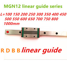 12 Mm Linear Guide MGN12 100 150 200 250 300 350 400 450 500 550 600 700 800 1000 Mm + MGN12H atau MGN12C Blok 3d Printer CNC(China)