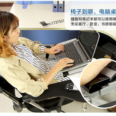 D-mount OK010 Multifunctional Full Motion Chair Clamping Keyboard Support Laptop Desk Holder Mouse Pad  Stainless steel 20kg Lahore