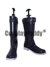 LOL Annie Gothic Lolita Purple Halloween Party Cosplay Shoes Boots X002