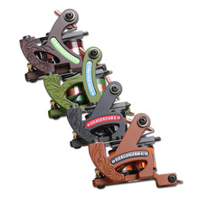 Dragonhawk Professional Tattoo Machine Fine Lining Shading Tattoo Gun Coloring Lining 10 Wraps Tattoo Machine Tattoo Supplies