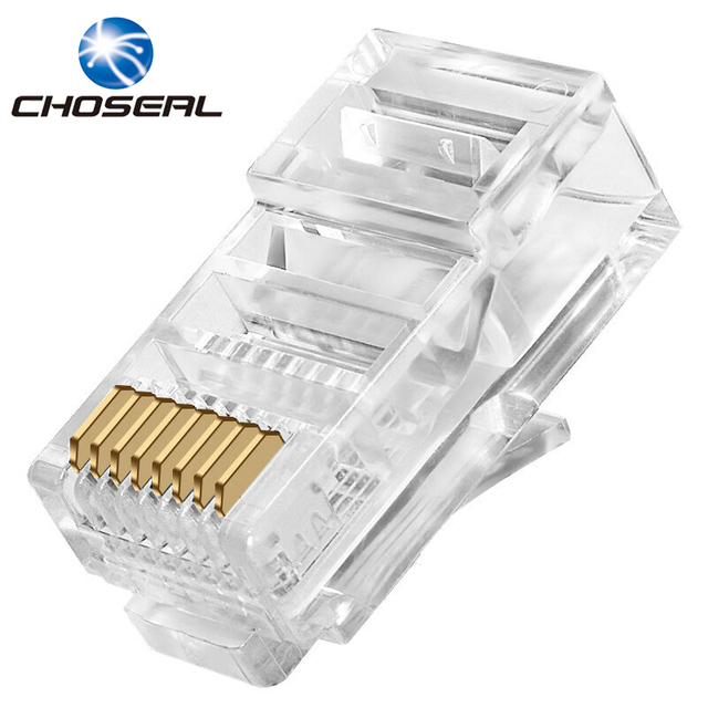 Choseal QS6015 RJ45 Connector Cat5e Network Connectors 8Pin RJ45 Plug Terminals For Network Cable DIY Wiring_640x640 choseal qs6015 rj45 connector cat5e network connectors 8pin rj45