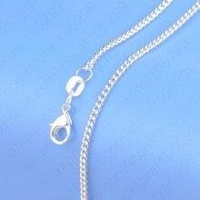 """Горячая Распродажа, 1 шт., цепочка из чистого 925 пробы серебра, ожерелье с большой скидкой 1""""-30"""", популярная плоская цепочка, ювелирное изделие, высокое качество"""