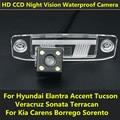 Для Hyundai Elantra Акцент Tucson Terracan Веракрус Sonata Kia Carens Borrego Sorento Автомобилей СВЕТОДИОДЫ Резервного Копирования Заднего Вида Камера Заднего Вида