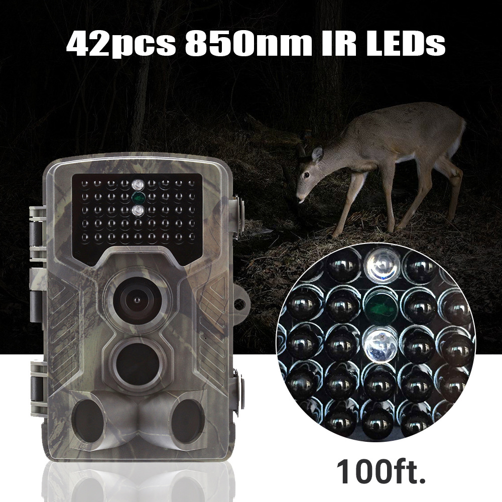 Image 3 - Goujxcy Trail Camera HC800A IP65 Waterproof forest Hunting Camera Night Vision Infrared LED Wildlife Camera Photo Traps scouts-in Hunting Cameras from Sports & Entertainment