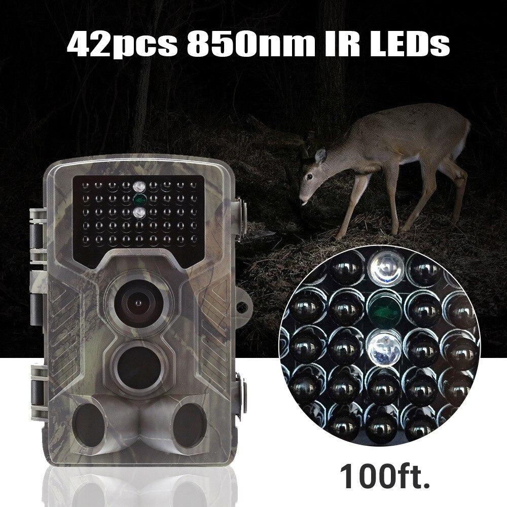 Image 3 - Goujxcy Trail camera HC800A IP65 водонепроницаемая лесная охотничья камера ночного видения инфракрасный светодиодный диких животных ловушки для фотоаппаратов Скауты-in Камеры для охоты from Спорт и развлечения