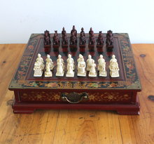 Special offer-Unique gift -2017 Christmas BEST present retro vintage Terra-Cotta Warriors chess checkerboard