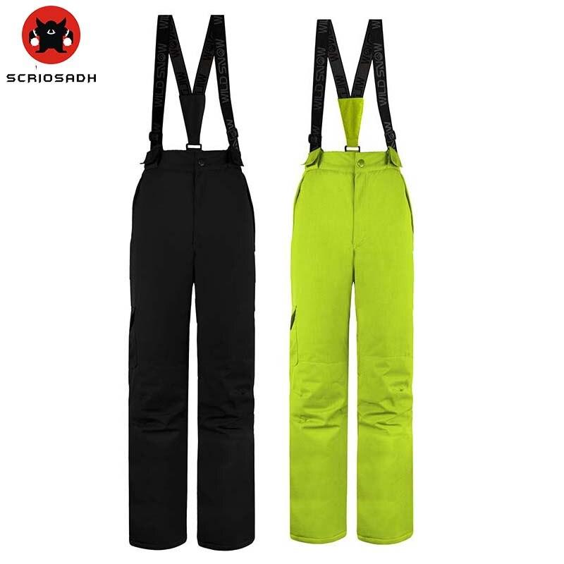 Femmes hiver Sports de neige imperméable coupe-vent pantalon garder au chaud pantalon 100% Polyester respirant femmes ski snowboard pantalon