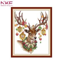 NKF cross stitch patterns 11CT 14CT Cross Stitch Set Wholesale Animal Cross-stitch Kit Embroidery Needlework for Home Decoration