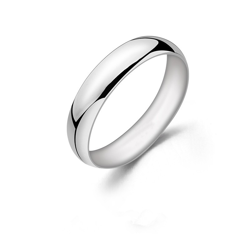 Unisex Mens Womens Solid 925 Sterling Silver Plain Engagement Wedding Band Ring