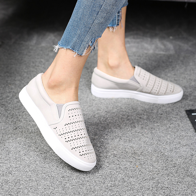 2019 Summer amp Autumn Women Shoes Breathable Mesh Sneakers Shoes Woman Ballet Flats Ladies Slip On Flats Loafers Zapatos Mujer in Women 39 s Flats from Shoes