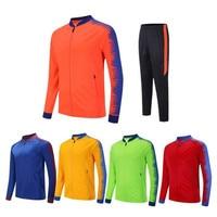 2 Pcs Soccer Uniforms Customize Football Jerseys Soccer Sets Training Suits Long Sleeve Goalkeeper Plus Clothes Zipper Pockets