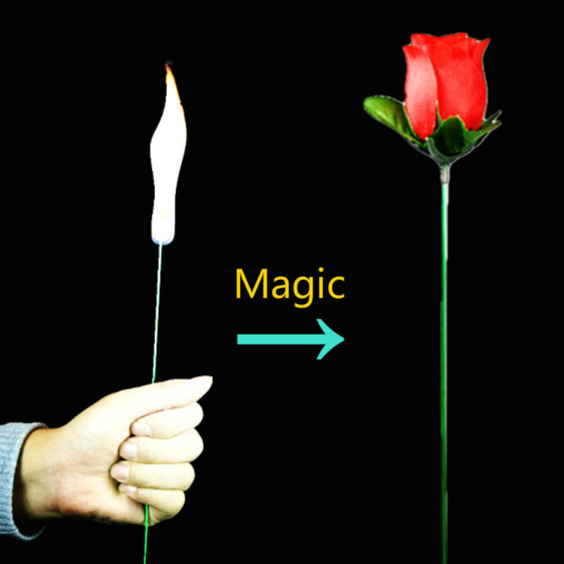 Torch To Rose Hilarious Mystical Fire Magic Fire Magic Trick Flame Appearing Flower Professional Magician Bar Illusion Props