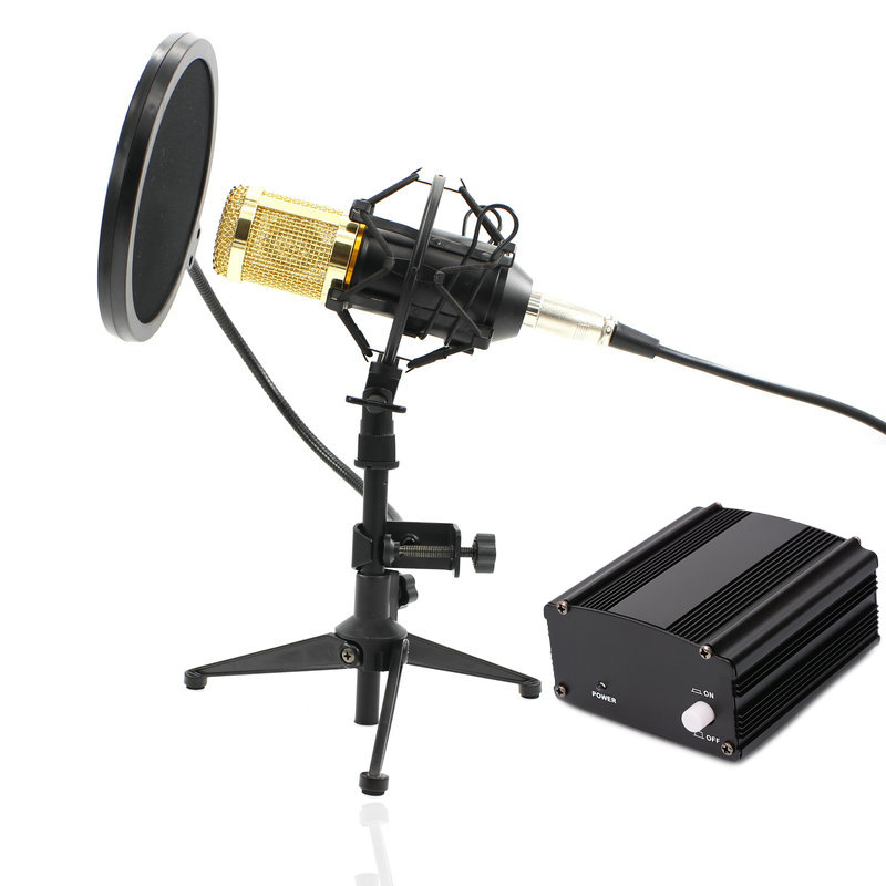 Professional BM-800 bm800 Condenser Sound Recording Microphone with Metal Tripod for Radio Braodcasting Singing heat live broadcast sound card professional bm 700 condenser mic with webcam package karaoke microphone