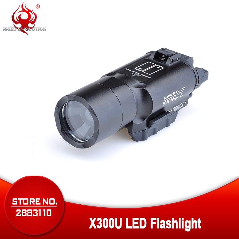 Night Evolution Softair Tactical Flashlight x300u LED Flashlight Tactical Gun Weapon Light For Weapon NE01008