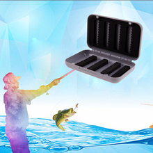 Mini Portable Fishing Tackle Box Waterproof ABS Plastic Foam Fly Fishing Lure Bait Hook Tackle Storage Case 2 Size Optional