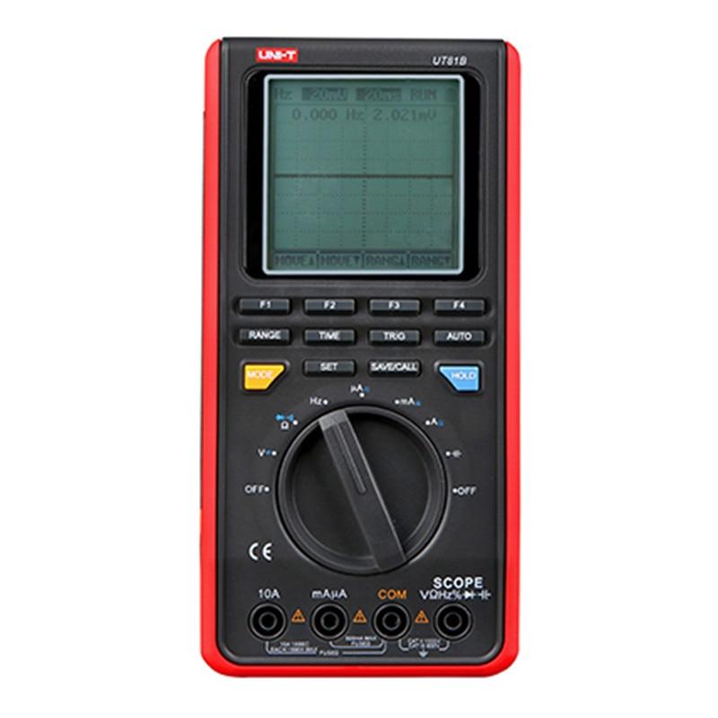 UNI-T UT81B UT81C Digital Wave Multimeter Handheld LCD Digital Scopemeter Oscilloscope With USB Interface multimeters minipa et 988 et988 lcd handheld digital thermometer multimeter