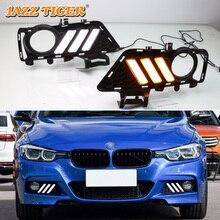 цена на For BMW F30 2013~2019 320i 320Li 3series No-error Daytime Running Light LED DRL Fog Lamp Driving Lamp Car Styling