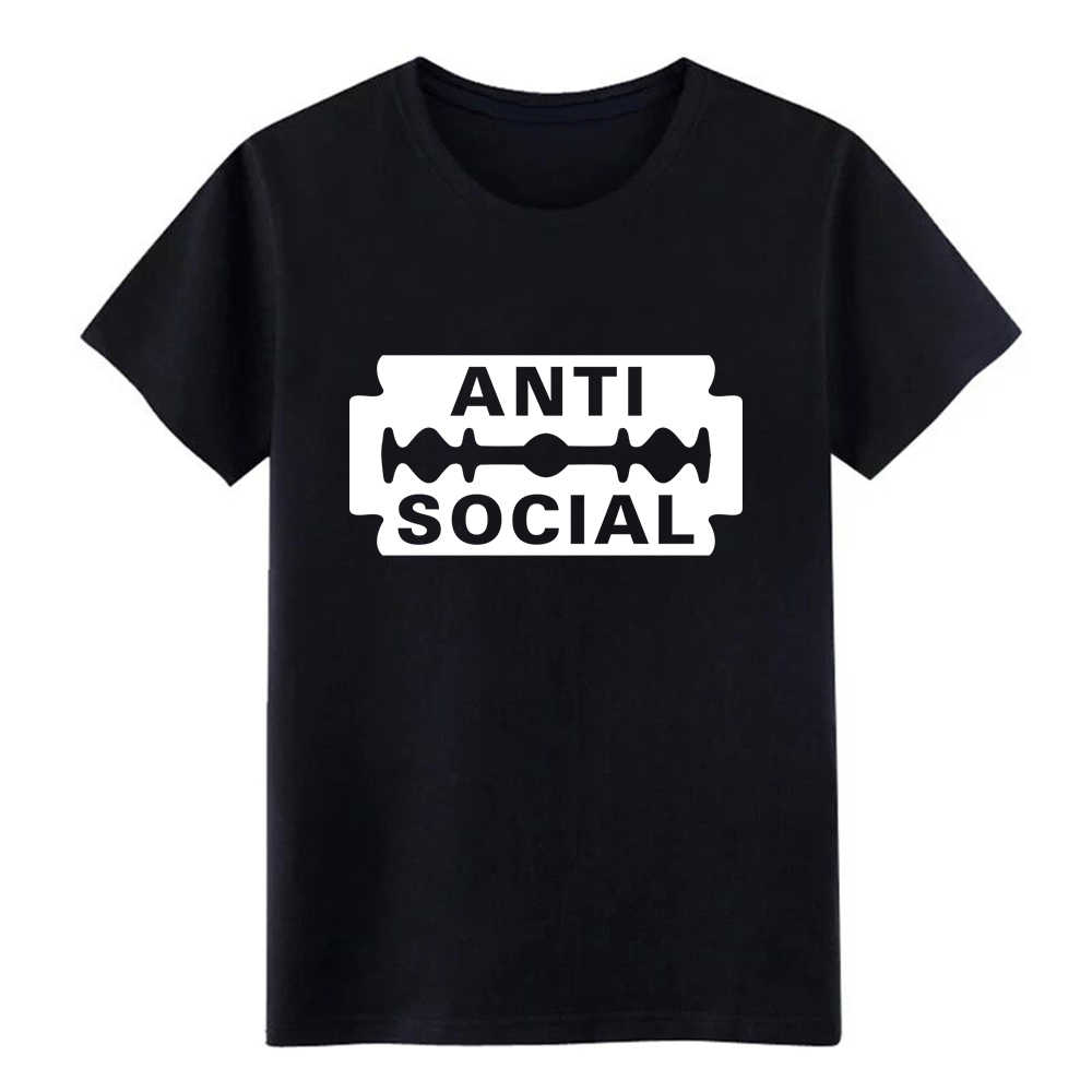 Mannen Anti Sociale t-shirt creëren t-shirt O-hals Pictures Fit mode zomer Outfit shirt