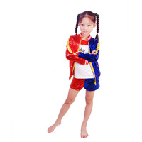 Kid Harley Cosplay Faux Leather Printed Embroidery Pattern Coat Top Shorts 3Pcs Set Girls Game Halloween Cosplay Costumes