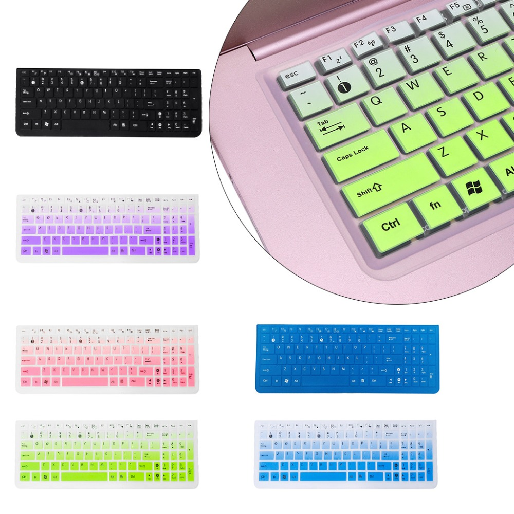 1PC Silicone Keyboard Cover Keypad Film Skin Protector Notebook Silicone Protection for Asus K50 Laptop Accessory image