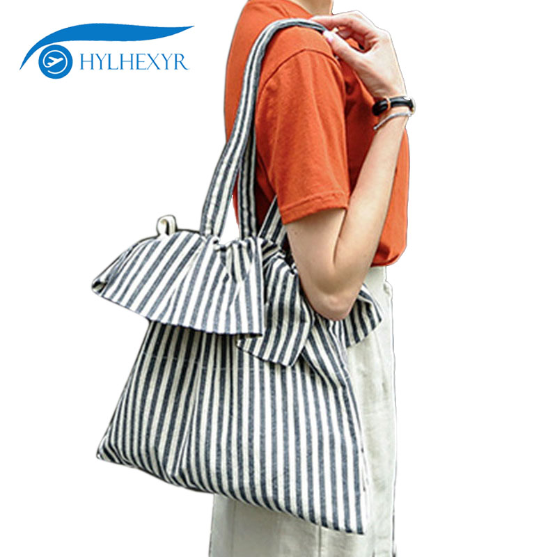 2c80d4589a43 Detail Feedback Questions about Hylhexyr Women s Handbag Fashion Striped  Stylish Elegant Large Capacity Cotton Crossbody Bag Travel Casual Ruffles  Shopping ...