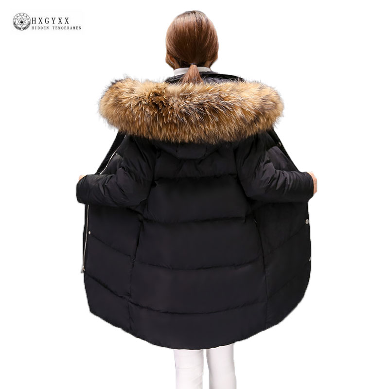 Hot Sale Women Winter Jacket 2018 New Long Outerwear Slim White Duck Down Coat Female Natural Fur Parka Women Overcoat OK1113 winter parka thick overcoat slim fashion long coat outerwear hooded colloar with fur women long duck down coat jacket