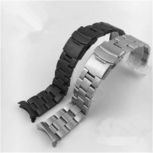 Watch Accessories Sanzhu Diving Belt Solid Arc Stainless Steel Drawing Grinding 20 22mm