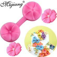 Mujiang Cherry Blossom Silicone Mold Sugarcraft Embossed Fondant Cake Decorating Tools Fimo Clay Candy Chocolate Gumpaste Molds