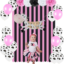 Cowgirl Birthday Party Decor Set For Girl Farm Barnyard Cow Themed 1st Animal Supplies Pink Baby Decorations