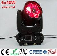 LED Супер луча 6x40 Вт RGBW 4IN1 LED Увеличить перемещение головы луч света пчелы глаз для бара эффект LED освещение сцены DMX DJ огни