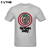 Men T Shirt Best Design 100 Cotton Short Sleeve T Shirts Male Green Day Skull Heavy